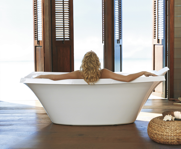 Soak in luxury with Kohler's Escale freestanding bath