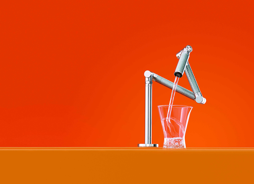 The iconic Karbon kitchen sink mixer from Kohler