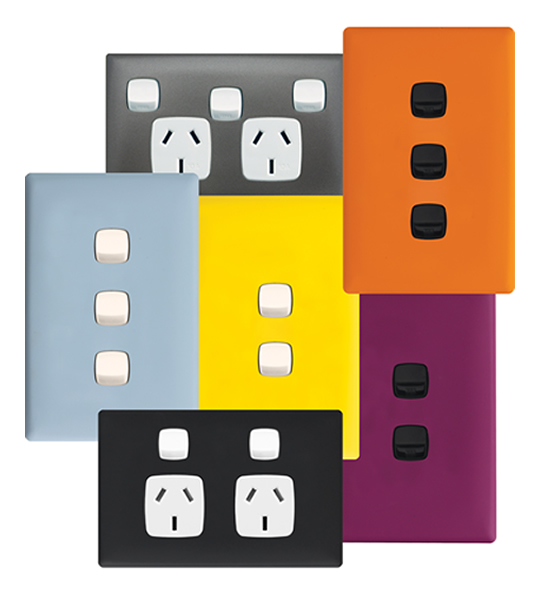 Express yourself with Colour – HPM Linea range of colourful, low profile switches and powerpoints