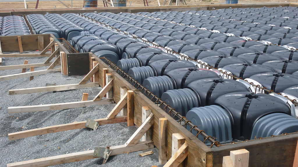 Structural dome concrete slab system