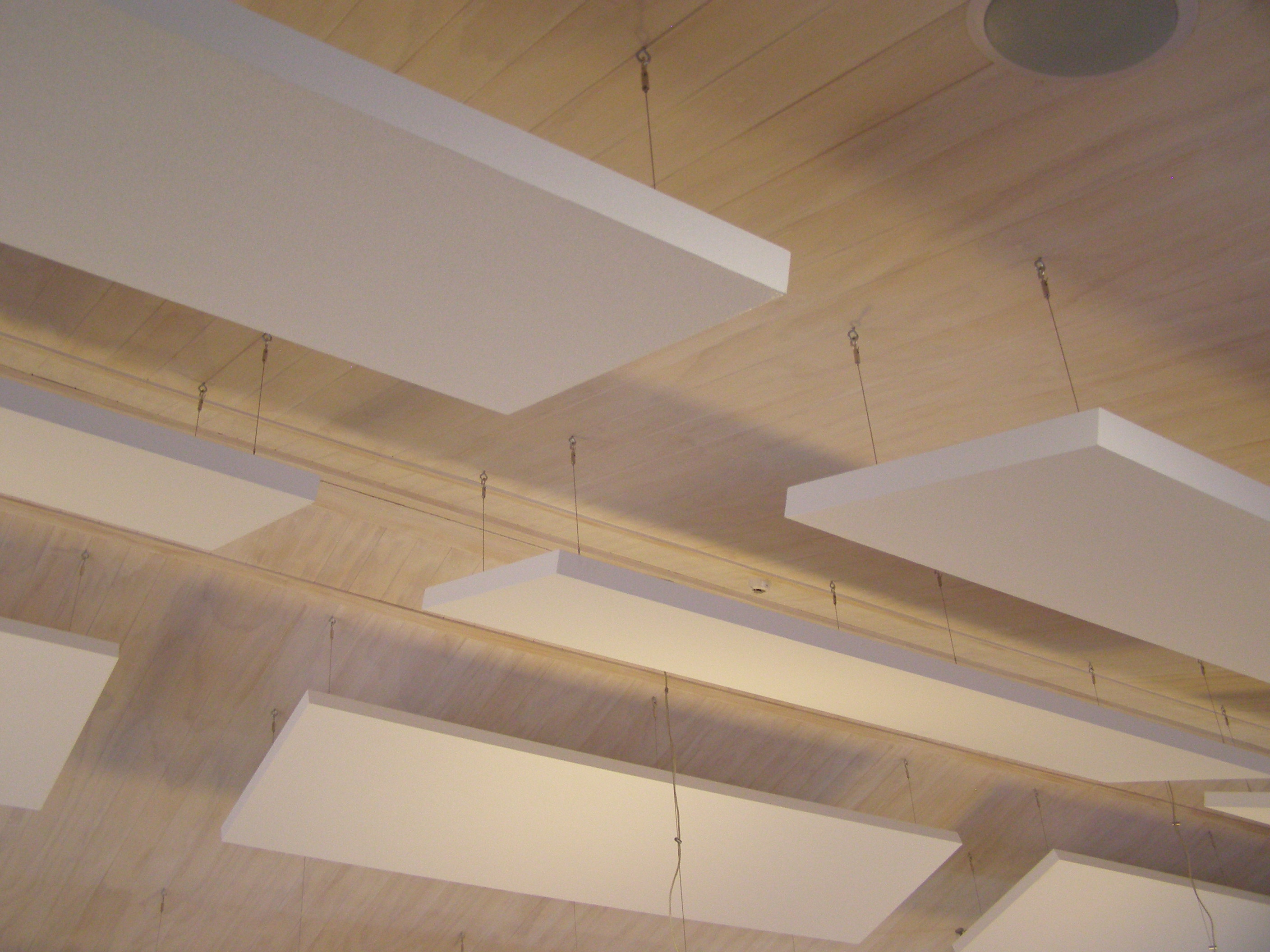 Reduce noise and add style in ceiling design with acoustic for How to make clouds on ceiling
