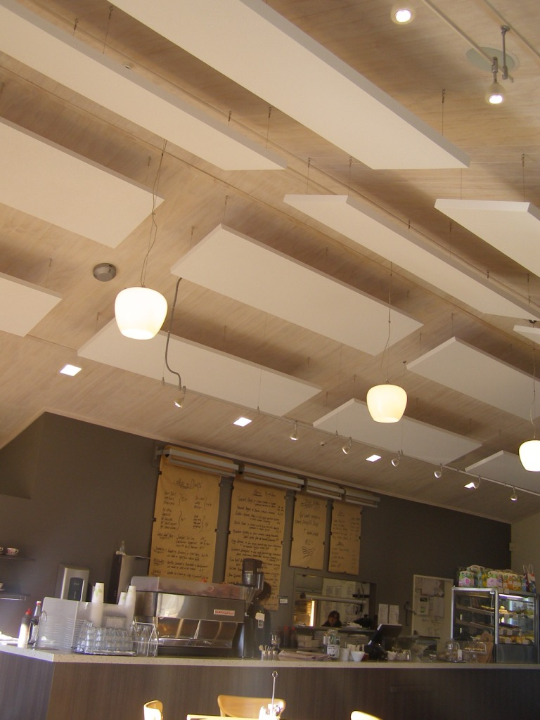 Reduce Noise and Add Style in Ceiling Design with Acoustic Plus, Sound Absorbing Cloud Panels