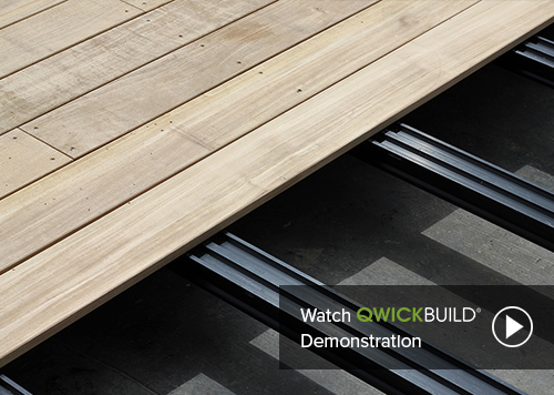 QWICKBUILD deck framing – moisture proof, stable, fast