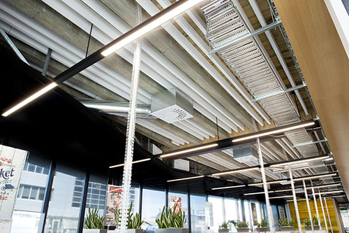 Acoustic Beams for de-constructed spaces