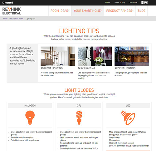 RETHINK Electrical now online!