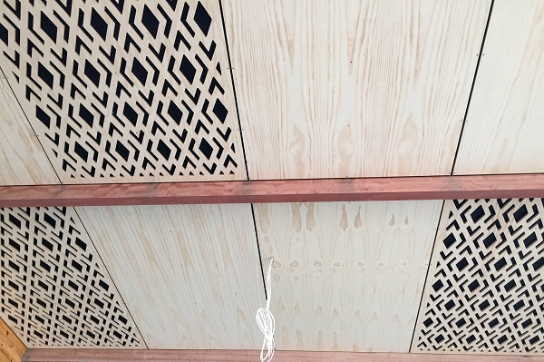 Fireshield and Resene Pine Ceiling