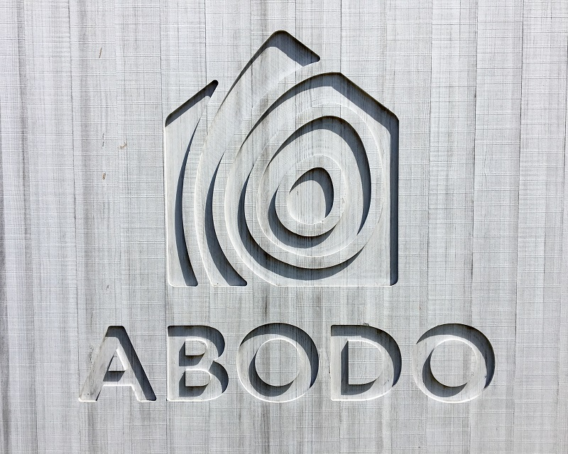 Abodo Wood Sign Silvering Off